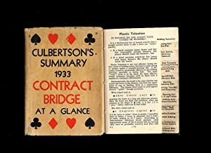 Contract Bridge at a Glance; Culbertson's Own: Culbertson, Ely