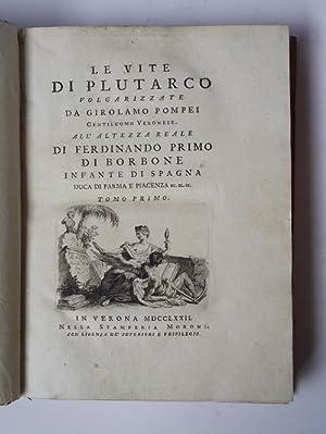 Le Vite volgarizzate da Girolamo Pompei: PLUTARCO.