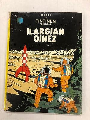 Tintin Book in Basque Euskara (Spain): Ilargian: Herge