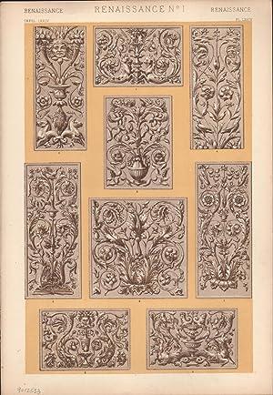 Renaissance No. 1. (PRINT) (GRAMMAR OF ORNAMENT): Jones, Owen