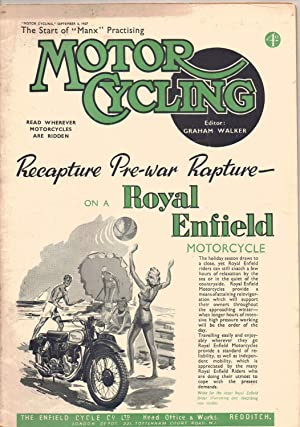 MOTOR CYCLING Magazine. September 4, 1947. Front: Edited by Graham