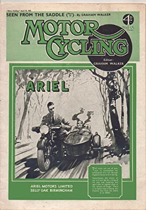 MOTOR CYCLING Magazine. April 16, 1942. Front: Edited by Graham
