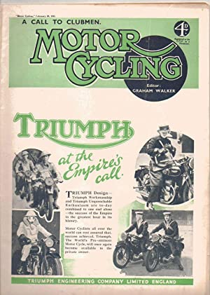 MOTOR CYCLING Magazine.February 20, 1941. Front Cover: Edited by Graham
