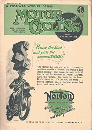 MOTOR CYCLING Magazine. June 3, 1943. Front: Edited by Graham