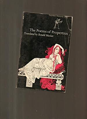 The Poems of Propertius: Musker, Ronald (tr.)