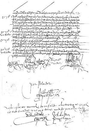 MANUSCRITO SIGLO XVI: MEMORIAL DEL PLEITO DEL