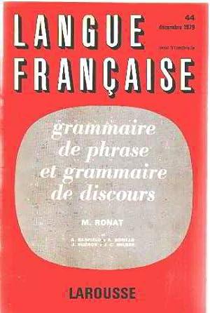 Grammaire de phrase et grammaire de discours: Ronat