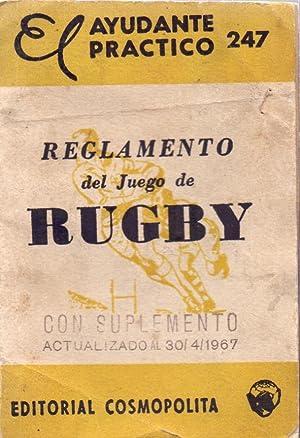 REGLAMENTO DEL JUEGO DE RUGBY, ( Con: Union Argentina de