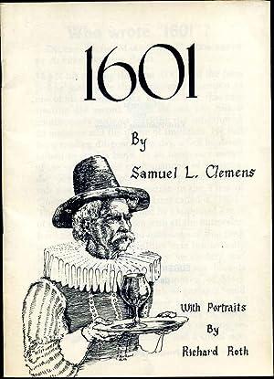 1601. With Portraits by Richard Roth.: Twain, Mark; Samuel