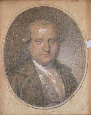 Portrait Johann Ernst Kroll. Farbige Kreidezeichnung mit