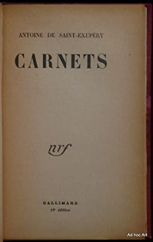 Carnets: SAINT-EXUPERY (de), Antoine