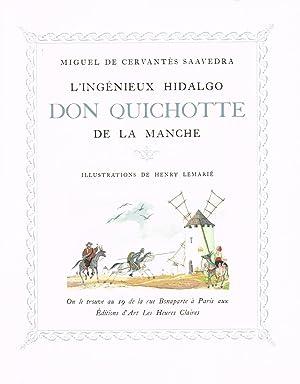 Image du vendeur pour L'Ingénieux Hidalgo Don Quichotte de la Manche. Illustrations de Henry Lemarié. mis en vente par Delirium Books · Susana Bardón