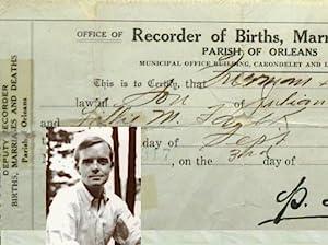 Truman Capote's original Birth Certificate. [ In: Capote, Truman