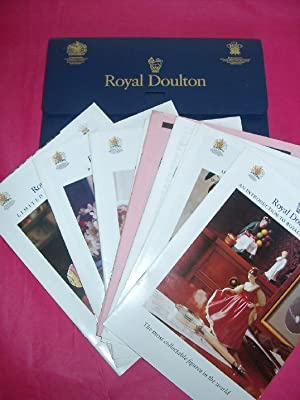 ROYAL DOULTON LEAFLET CASE/WALLET Including NUMEROUS LEAFLETS AND PRICE LISTS, PRESTIGE FIGURESM ...