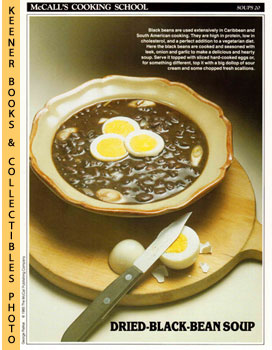 McCall's Cooking School Recipe Card: Soups 20 - Black-Bean Soup (Replacement McCall's Recipage or...