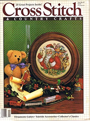 Jan Feb 1995 Valentines Baby Keepsakes Angels Family Tree Sampler Cross Stitch and Country Crafts Magazine back issue