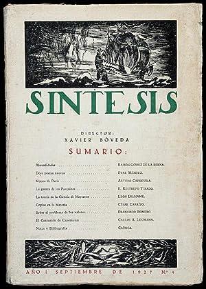 Revista SÍNTESIS. Año I No 4. Septiembre: Ramón Gómez de