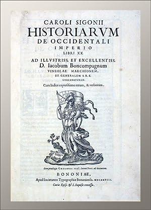 Historiarum de occidentali imperio libri XX.: Sigonio, Carlo (Sigonius):