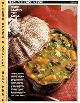 McCall's Cooking School Recipe Card: Soups 12 - Beef-And-Vegetable Soup (Replacement McCall's Rec...