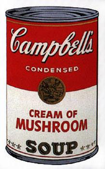 Campbell's Soup I 1968. Cream of Mushroom.: Warhol, Andy (After).