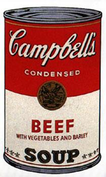 Campbell's Soup I 1968. Beef with Vegetables: Warhol, Andy (After).