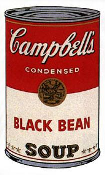 Campbell's Soup I 1968. Black Bean.: Warhol, Andy (After).