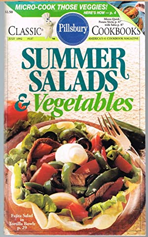 PILLSBURY CLASSIC COOKBOOKS No. 137, July 1972 SUMMER SALADS & VEGETABLES.