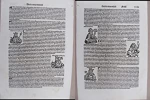 """Single Leaf from the Latin Edition """"Liber: Schedel, Hartmann"""