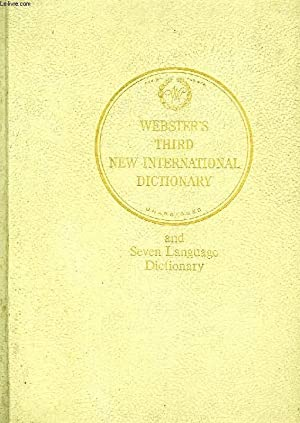Seller image for WEBSTER'S THIRD NEW INTERNATIONAL DICTIONARY OF THE ENGLISH LANGUAGE UNABRIDGED, 3 VOLUMES, A-Z for sale by Le-Livre