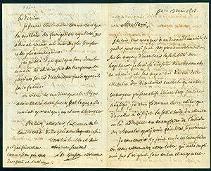 Autograph letter signed, 4pp., concerning hospital sanitation: Guyton de Morveau,