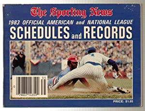 The Sporting News 1983 Official American and National League Schedules and Records Ripken