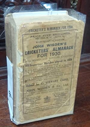 John Wisden's Cricketers' Almanack for 1930,: Wisden