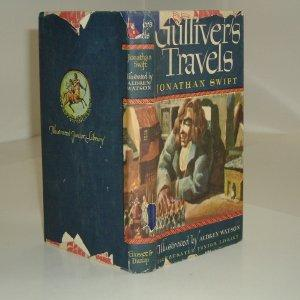 GULLIVER'S TRAVELS By JONATHAN SWIFT 1947 ILLUSTRATED: JONATHAN SWIFT