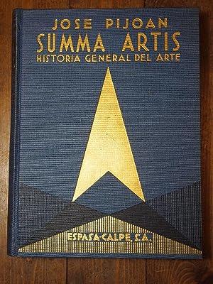 Summa Artis. Historia General del Arte. Vol.: Pijoan, José.