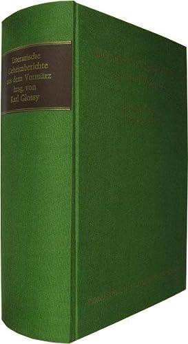 Literarische Geheimberichte aus dem Vormärz.: Glossy, Karl (Hrsg.):