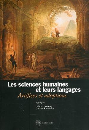 Les Sciences Humaines et leurs Langages. Artifices: Frommel, Sabine. Gernot