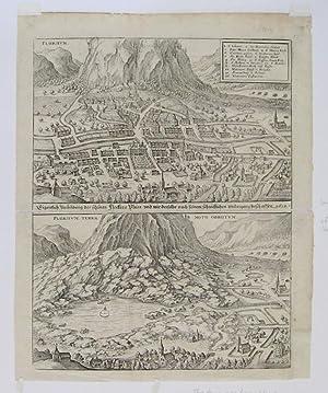 Collapse of Monte Canto near Piuro: MERIAN, Matthaus