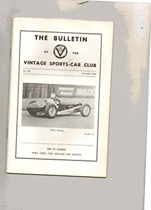 The Bulletin of the Vintage Sports-Car Club. No. 99. AUTUMN 1968