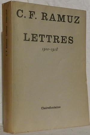 Lettres. 1900-1918.: RAMUZ, C.-F.