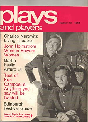 PLAYS AND PLAYERS Monthly magazine. August 1969