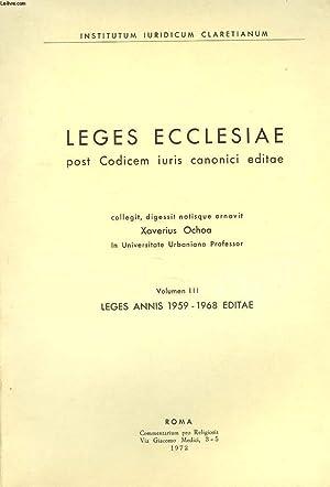 LEGES ECCLESIAE POST CODICEM IURIS CANONICI EDITAE.: XAVIERUS OCHOA