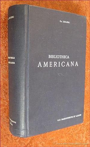 Bibliotheca Americana. Histoire, géographie, voyages, archéologie et: LECLERC, CH.