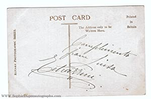Vintage postcard photo by the Rotary photo co., signed & inscribed on the verso (Luisa, 1871-1940...