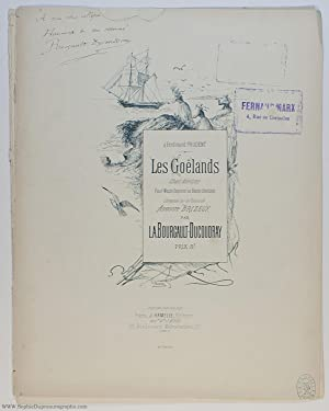 Charming and descriptive song 'Les Goëlands' ('The Seagulls') (Louis Albert, 1840-1910, Breton Co...