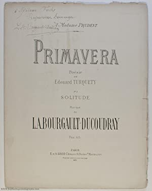 Delicate and expressive song 'Solitude' (Louis Albert, 1840-1910, Breton Composer & Scholar)
