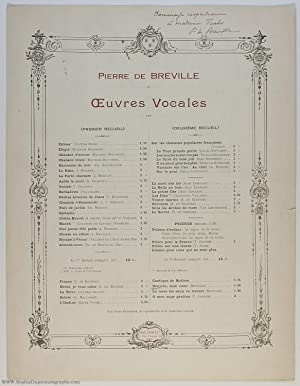 'Bonjour mon coeur', light-hearted song for voice and piano, (Pierre de, 1861-1949, French Composer)