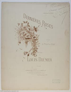 'Dernières Roses' for voice and piano, (Louis, 1843-1919, French Pianist & Composer)