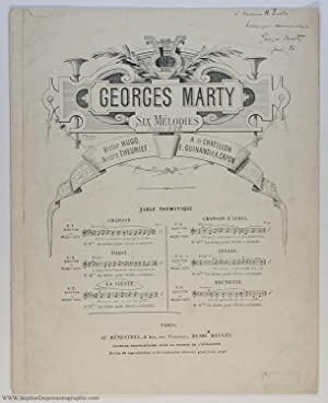 'La Sieste' for tenor or soprano and piano, (Georges, 1860-1908, French Conductor & Composer)