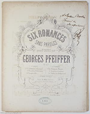 'A travers champs', no. 1 of 'Six romances sans paroles' for piano, (Georges Jean, 1835-1908, Fre...