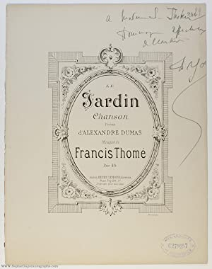 'Le Jardin' for voice and piano, (Francis, 1850-1909, French Composer)